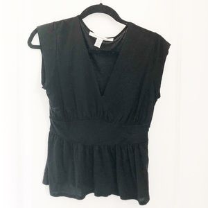DVF black top - size medium